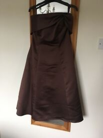 Chocolate Brown Bridesmaid / Prom or Evening Dress