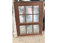 hardwood double glazed wooden window new