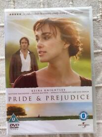Pride and Prejudice dvd. New and sealed