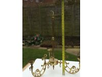 Antique brass central light