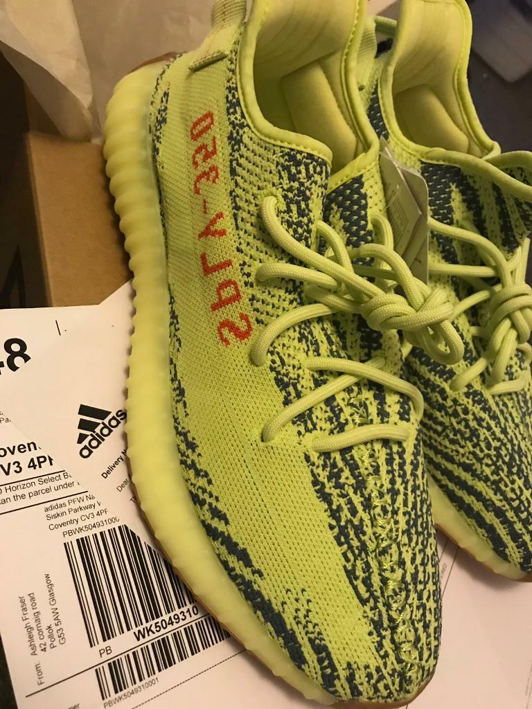 c688e437b Adidas Yeezy boost 350 V2 semi frozen yellow