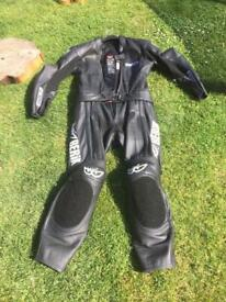 Motorbike leathers inc full armour and sliders