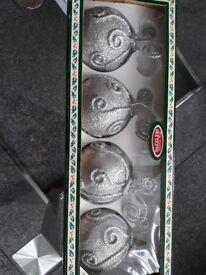 large silver xmas balls