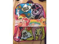 My little pony backpack & set