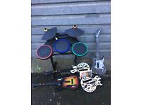 Wii GUITAR HERO GUITARS AND DRUMS XBOX GAMES DS GAMES Cameras PS3 SINGSTAR MICS