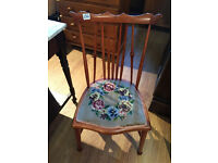 Lovely chair , could be used in any room. Lovely design and detail. Free local delivery.