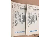 Two tickets sea sick Steve Usher Hall 19th