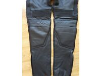 Women's ladies leather motorcycle trousers size 28