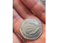 Rare 50p collectors coin