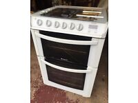 Hotpoint gas cooker and double oven. Can deliver