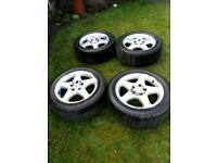 Mercedes alloys with tyres