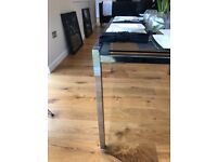 SHOW HOME FURNITURE 6 seater glass dining table