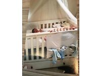 Quality ivory cot bed
