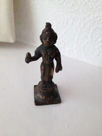 Antique Brass Statue of Indian Figure Krishna