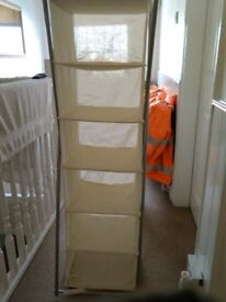 2 hanging storage units ie shoes or clothes