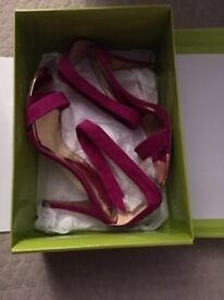 Ted Baker pink sandals size 6