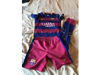 Kids Barcelona football kit