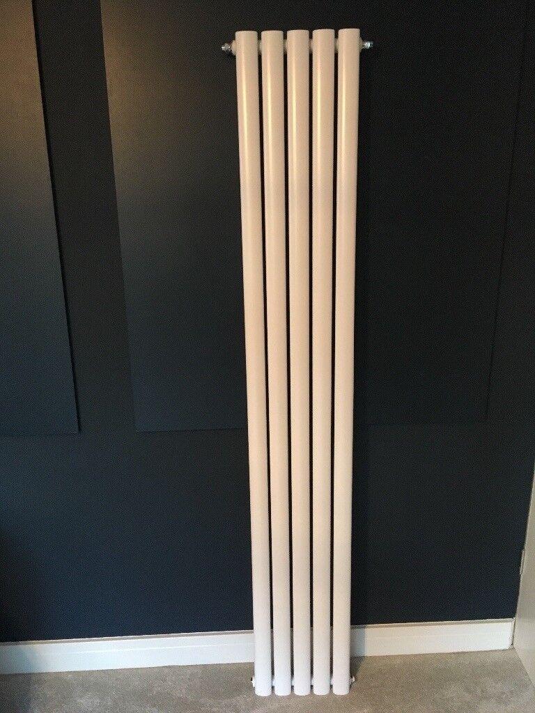 Tall vertical single panel radiator in pristine condition
