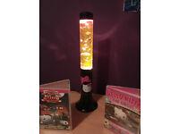 Hello Kitty Glitter Lava Lamp & DVDs