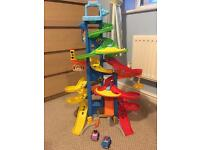 Fisher price little people sit and stack skyway car track