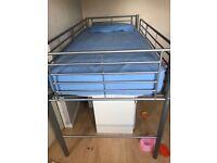 Mid sleeper bunk bed metal bed