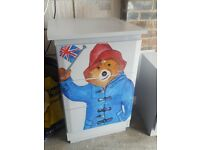 3 drawer chest hand painted with Paddington Bear - one off
