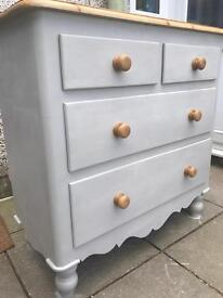 Up Cycled Large Solid Pine Chest of Drawers (Can Deliver)