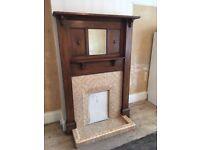 Original 1920/30 mirrored solid oak fire surround