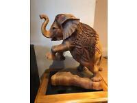 Large Carved Wooden Elephant £20
