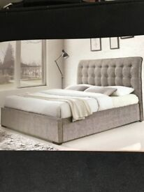 "Brand New Light Grey Bedframe 4'6"" Double ( Mattress not included)"