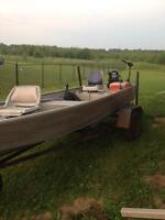 1999 misty river fishing boat and trailer