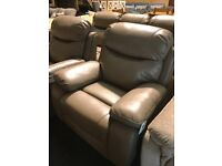BRAND NEW FULL RECLINER LEATHER SUITE