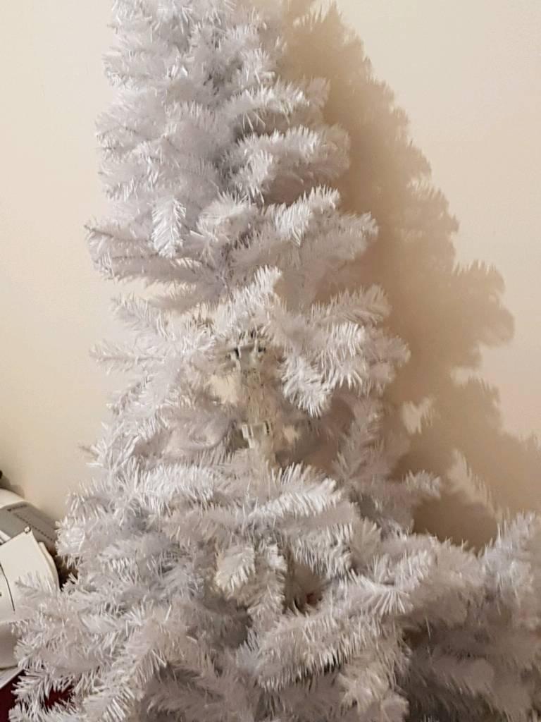 white xmas tree x2 10.00 each
