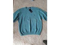 Ralph Lauren turquoise roundneck jumper