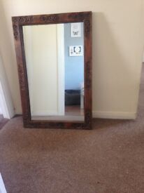 Rosewood carved mirror