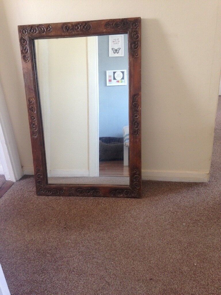 Mirror Carved Rosewood Reduced In South Queensferry