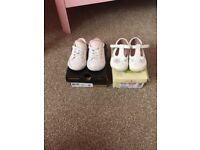 Size 4 converse and clarks startrite shoes