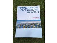 Textbook: Management and Organisational Behaviour. Wendy Bloisi/Curtis. W. Cook/Phillip Hunsaker