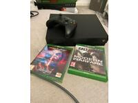 Xbox one x 1tb with 2 games
