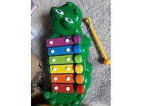 Baby toddler aligator xylophone