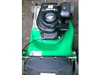 PETROL LAWMMOWER WITH GRASS BOX AS NEW