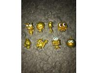 Moshi monster limited edition gold figures X8
