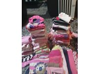 Bundle of baby girls baby clothes