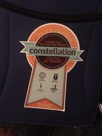 "Brand New Constellation 28"" inch 2-Wheel Black Suitcase RRP 39.99"
