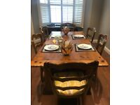 Ralph Lauren Refectory Table and (6) Chairs