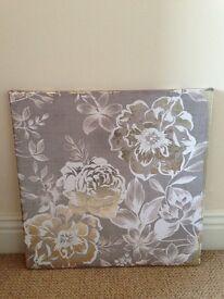 40cm square canvas pictures x2