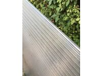 Polycarbonate roofing sheets clear (twinwalled 10mm)