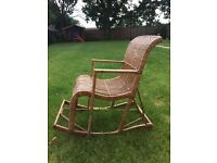 Children's rocking chair, rattan, excellent condition!