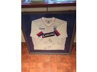 Framed signed Rangers shirt