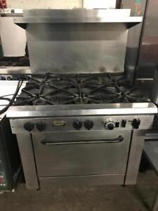 Commercial 6 burner gas stove oven for only $850 ! Save$$$ shipping avaiable with in Canada